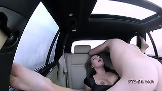 No Panties Upskirt In Fake Taxi