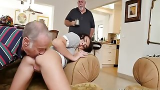 Old Man Taxi And Nasty Anal Xxx Riding The Old Wood!
