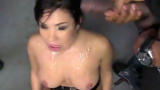 Interracial Gang Bang Blowjob Slut