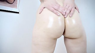 Lovable Mistress Shows And Squeezes Her Butt For The Camera