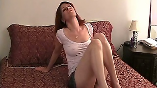 Solo Model With Natural Tits Moaning While Masturbating