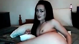 Sexy Brunette Ass Masturbating