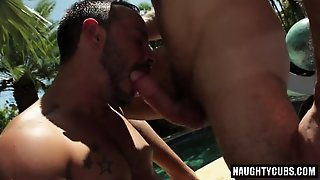 Latin Gay Outdoor With Facial