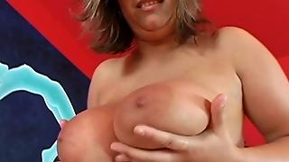 Explicit Dildo And Boobs Mashing