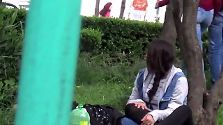 Student Sucks In Public Park