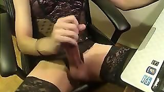 Lingerie Big Cock Masturbation