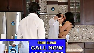 Sexy Brunette Tv Shop Chick Gets Fucked On Live Tv