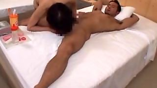 Japanese Hotel Blowjob And Anal Dildo