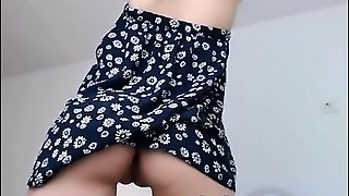 Adorable Teen Undressing And Teasing