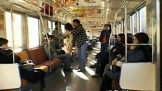 Kinky Japanese Fingered In A Bus