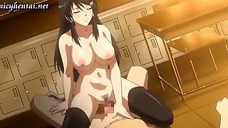 Horny Anime Brunette With Big Tits