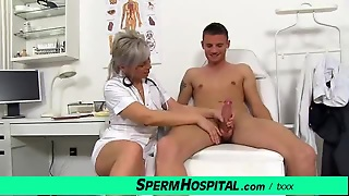 Czech Cougar Doctor Beate Mom Boy Cfnm Tugjob At Dirty Clinic