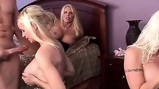 Hardcore Gangbang With Dick Starved Cougars