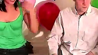 Kissing And Stripping In Amateur Party Game