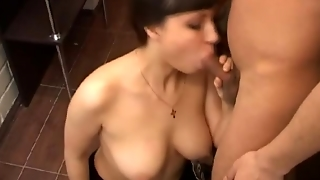 Brunette, Shaved, Fingeri, Stripping, Big Tits, Blowjob, Teen