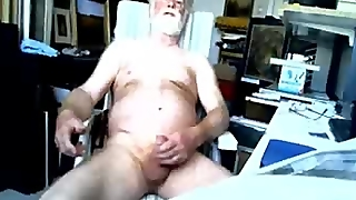 Old Gay Wanking On Cam