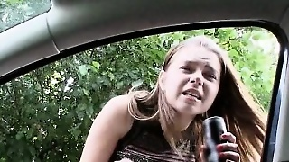 Stranded Busty Russian Teen Fucked And Jizzed On In Public