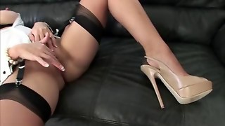 British Lady Sonia In Stockings Feature
