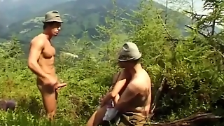 Rough Anal Gangbang In Nature