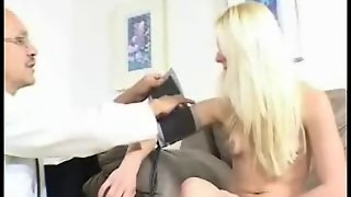 Chick Blonde At A Doctor