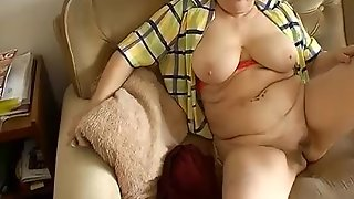 Bbw Granny Plaing With Electro Toy