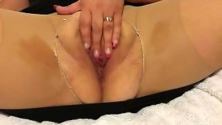 Hot Slut In Nylons Squirting