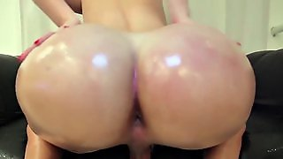 Bigtitted Latina Tgirl Tugs While Toying Ass