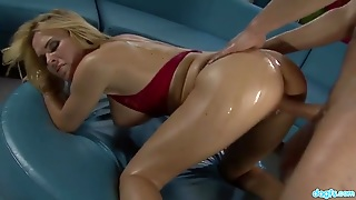 Covering A Slut With Olive Oil As They Fuck