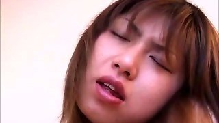 Inspecting An Asian Teens Hairy Pussy