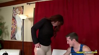 Glamorous Milf With Awesome Ass Makes A Deep Blowjob