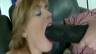 Blonde Lesbo Hottie Ass Fucked With Large Strapon