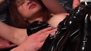 Kinky Bound Slut In Latex And Fishnets