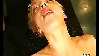 Blonde Babe Gets Fucked And Bukkake In Reality Gangbang
