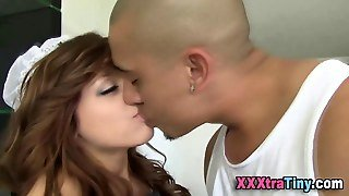 Petite Teen Maid Sucking A Cock Real Good
