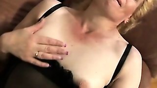 Lena Is A Fishnet Wearing Granny Who Still Loves A Hard Cock
