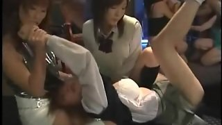 Asian Teen Lesbian Group Domination