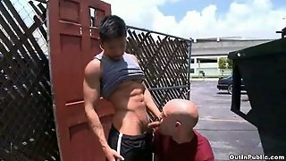 Gay Amateur Outdoor Blowjob