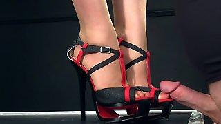 Femdomlady High Heels And Cumshot