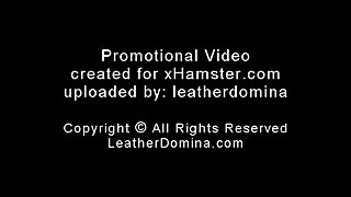 The Leather Domina - Leather Bondage - Leather Facesitting