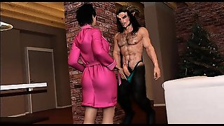 3D Babe Pulverized By A Minotaur!