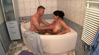 Hot Bathing With Appetizing Sweetie.