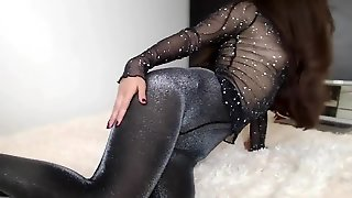 Hot Brunette In Sexy Pantyhose