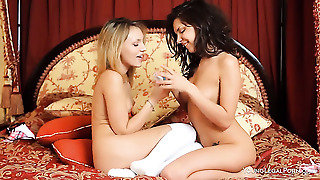 Blonde Natasha Von Gives Penelopes Wet Spot A Try In Girl-On-Girl Action