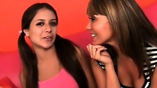 Sexy Cougar And Teen Chick Strip For Threesome Fuck