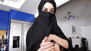 Hijab Wife Secretly Fucking Boyfriend While Husband Is Away