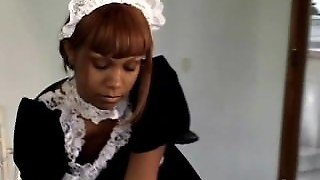 Hot Black Maid Hungry For Cock