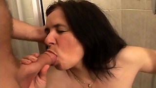 Blowjob, Housewife, Brunette, Hd, Shower, Anal, Mature, Mom, Hairy, Missionary, Busty