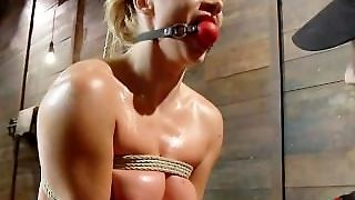 Romanian Whore Gets Tied Up And Dominated