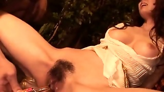 Yui Hatano Hairy Cunt Toyed