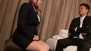 Asian, Milf, Upskirt, Ripped Pantyhose, Big Tits, Pussy Stimulation, Hardcore, Big Boobs, Japanese, Bigtitstokyo, Office Suit